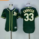 2017 Flexbase Stitched Oakland Athletics 33 Jose Canseco Green Jerseys Home Away Road Flex base