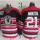 75 Anniversary Patch Chicago Blackhawks  #21 Stan Mikita Throwback Retro Ice Hockey Jerseys