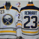 Buffalo Sabres #23 Sam Reinhart Throwback Vintage Jersey White ICE Hockey Jerseys Heritage Stitched