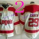 Los Angeles Angels #29 rod carew  Baseball Hooded Stitched Old Time Hoodies Sweatshirt Jerseys