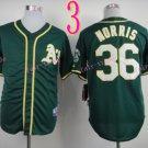 2014 Oakland Athletics Jersey  #36 NORRIS  Green Jerseys