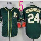 2014 Oakland Athletics Jersey  #24 Rickey Henderson Green Jerseys