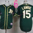 2014 Oakland Athletics Jersey#15 LAWRIE Green Jerseys