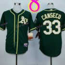 2014 Oakland Athletics Jersey #33 Jose Canseco  Green Jerseys