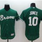 2017 Flexbase Stitched Atlanta Braves 10 Chipper Jones Green Jerseys Home Away Road Jersey Style 1
