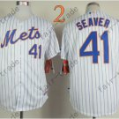 2015 New York Mets #41 Tom Seaver Jersey White Cool Base Stitched Authentic Baseball Jersey