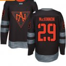 2016 World Cup North America Ice Hockey Black Jerseys 29 Nathan Mackinnon