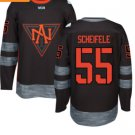 2016 World Cup North America Ice Hockey Black Jerseys # 55 Mark Scheifelee