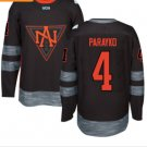 2016 World Cup North America Ice Hockey Black Jerseys  #4 Colton Parayko