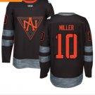 2016 World Cup North America Ice Hockey Black Jerseys  #10 Miller