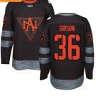 2016 World Cup North America Ice Hockey Black Jerseys 36 John Gibson