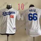 Los Angeles Dodgers Women Jersey #66 Yasiel Puig Women Baseball Jersey White