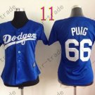 Los Angeles Dodgers Women Jersey #66 Yasiel Puig Women Baseball Jersey Blue