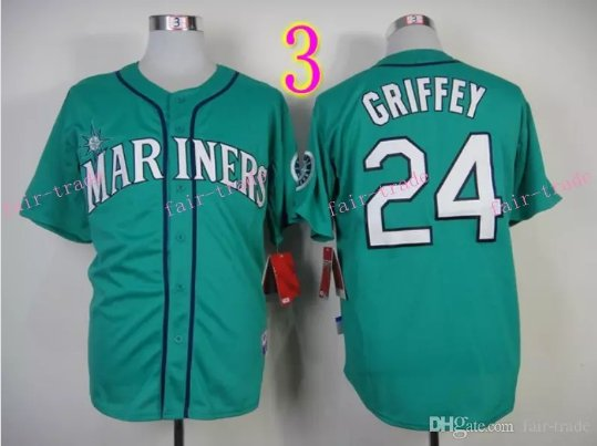 Seattle Mariners Jersey  #24 Ken Griffey Green Jersey Best Jersey Sox