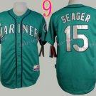 Seattle Mariners Jersey  #15 Kyle Seager Green Baseball Jersey Best Jersey Sox