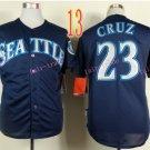 Seattle Mariners Jersey  Nelson Cruz #23 Blue Baseball Jersey Best Jersey Sox