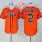 houston astros #2 alex bregman Orange 2016 Baseball Jerseys Authentic Stitched