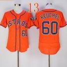 houston astros #60 Dallas Keuchel Orange 2016 Baseball Jerseys Authentic Stitched