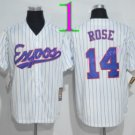 Montreal Expos Baseball Jerseys 2016 Retro 14 Pete Rose Jersey Throwback Home Road Away White