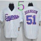 Montreal Expos Baseball Jerseys 2016 Retro 51 Randy Johnson Jersey Throwback Home Road Away White