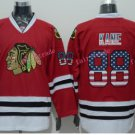 Chicago Blackhawks Jerseys Patrick KANE #88 Mens Red USA Flag Stitched Hockey Jersey