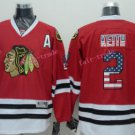 Chicago Blackhawks Jerseys 2 Duncan Keith Red USA Flag Stitched Hockey Jersey