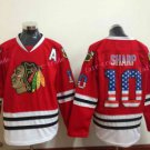 Chicago Blackhawks Jerseys 10 Patrick Sharp Red USA Flag Stitched Hockey Jersey