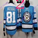 Stitched Pittsburgh Penguins #81 Phil Kessel Blue Hockey Jerseys Ice Jersey