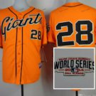 san #28 buster posey 2015 Baseball Jersey Orange Jerseys Authentic Stitched
