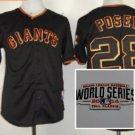 san #28 buster posey 2015 Baseball Jersey Black Jerseys Authentic Stitched