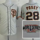 san #28 buster posey 2015 Baseball Jersey Gray Jerseys Authentic Stitched