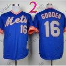 Baseball Jerseys New York Mets Jerseys 16# Dwight Gooden Jersey Blue