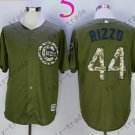 Chicago Cubs Army Green Salute To Service Jersey 44 Anthony Rizzo 100% Stitched