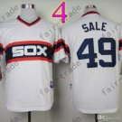 Chris Sale Jersey Chicago White Sox 49 White pullover Cool Base