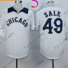 Chris Sale Jersey Chicago White Sox 49 White Cool Base