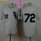 Carlton Fisk Jersey Vintage 1990 Chicago White Sox Jerseys White Pinstripe Pullover