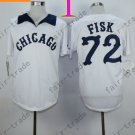 Carlton Fisk Jersey Vintage 1990 Chicago White Sox Jerseys White Pullover