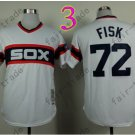 Carlton Fisk Jersey Vintage 1990 Chicago White Sox White Jersey