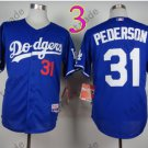 LA Dodgers 31# Joc Pederson Jersey Dark Blue Cool Base