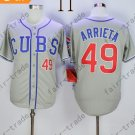 Chicago Cubs 49 Jake Arrieta Gray 2015 Baseball Jersey Authentic Stitched
