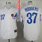 Montreal Expos Jersey #37 Steve Rodgers White Throwback Stitched