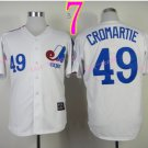 Montreal Expos Jersey #49 Warren Cromartie White Throwback Stitched