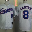 Montreal Expos Jersey 8 Gary Carter White Throwback Stitched Jerseys