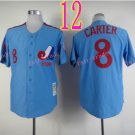 Montreal Expos Jersey 8 Gary Carter Blue Throwback Stitched Jerseys