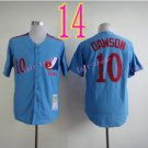 Montreal Expos Jersey 10 Andre Dawson Blue Throwback Stitched Jerseys