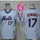 New York Mets Jerseys 17# Keith Hernandez Jersey White Throwback Style 2
