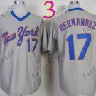 New York Mets Jerseys 17# Keith Hernandez Jersey Gray Throwback Style 2