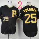 Sports Jerseys Pittsburgh Pirates 25 Polanco Black  Baseball Jerseys