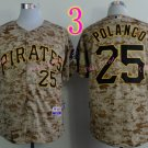 Sports Jerseys Pittsburgh Pirates 25 Polanco Camo Baseball Jerseys