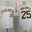 Sports Jerseys Pittsburgh Pirates 25 Polanco White Baseball Jerseys Style 1